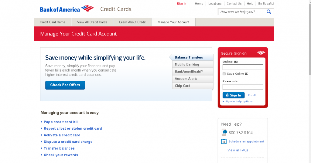 Check Status Of Bank Of America Business Credit Card Application ...
