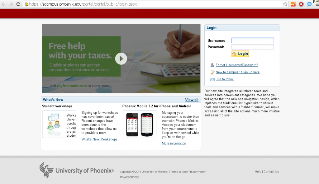 university of phoenix ecampus login guide todays assistant