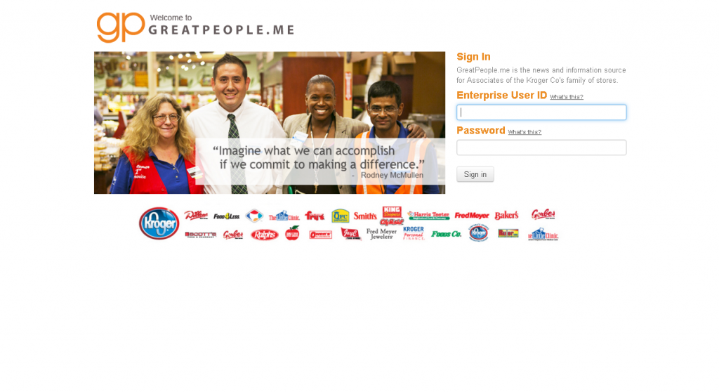 greatpeople.me kroger employee login page