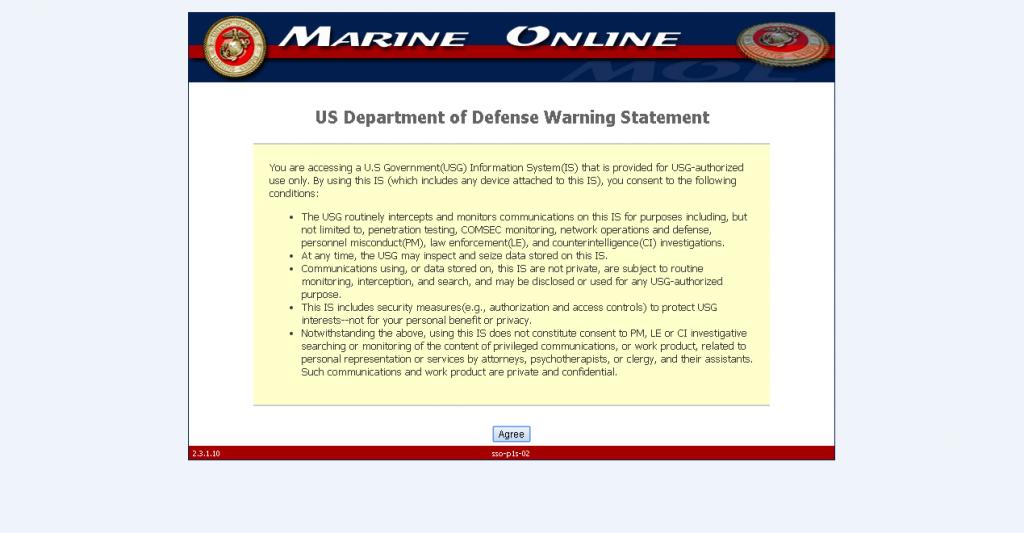 Marine corps online statement