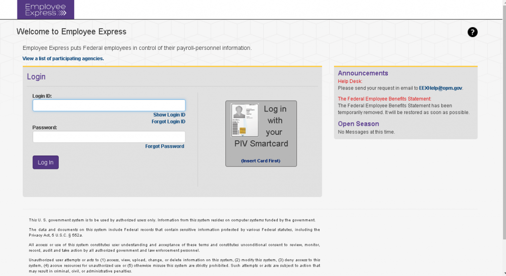 express employee login website screenshot
