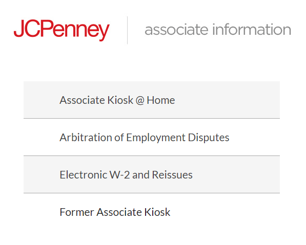 jcpenney associate kiosk screenshot