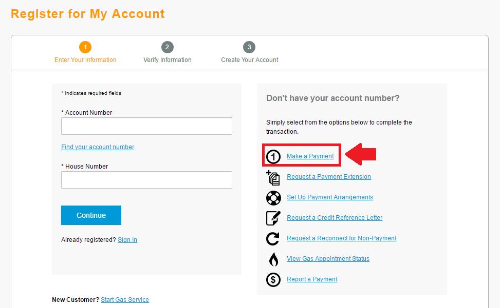 centerpoint energy make a payment link screenshot