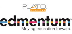 plato learning environment and edmentum logo