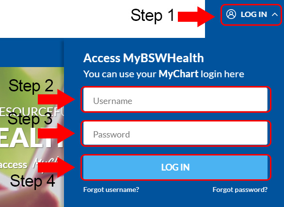 Baylor Scott White Health Login form