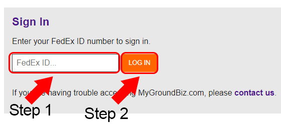 Fedex Ground Biz Login Form