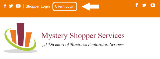 Mystery Shopper Services Login homepage