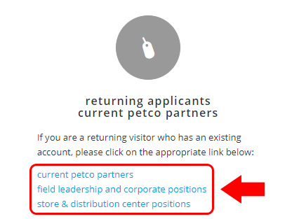 Petco Career Center Login returning applicants