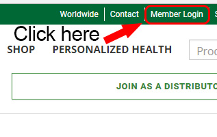 Shaklee Center Login Homepage