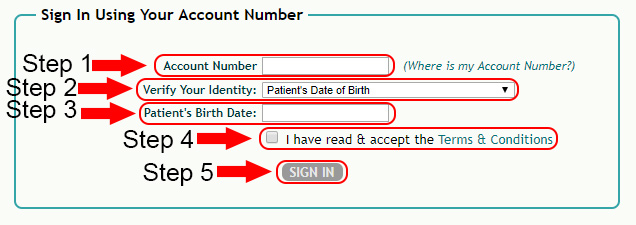 my medical payments account login