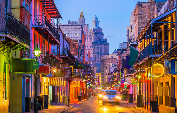 weekend getaways at city of lights at New Orleans